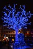 Arbre du marché de Noël de Strasbourg Islande Images stock