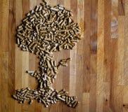 Arbre en bois de boulette Photo libre de droits