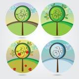 Arbre en quatre saisons différentes illustration libre de droits