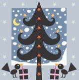 Arbre et cadeaux de Noël Photographie stock libre de droits