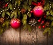 Arbre et décorations de Noël Photographie stock libre de droits