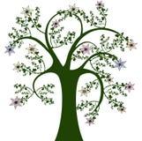 Arbre et fleurs illustration libre de droits