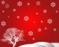 Arbre et flocon de neige Images libres de droits