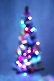 Arbre et lumière de Noël Photos stock