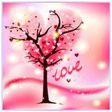 Arbre féerique de l'amour Photos stock