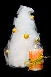 arbre fabriqué à la main de fourrure de bougie Photographie stock libre de droits