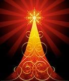 arbre fleuri de Noël Photos libres de droits