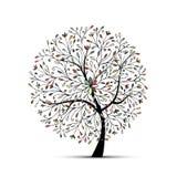Arbre floral abstrait pour votre conception illustration stock