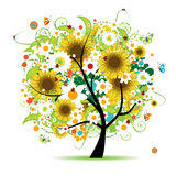 Arbre floral beau illustration stock