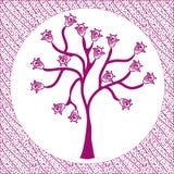 Arbre floral dans la trame Images libres de droits