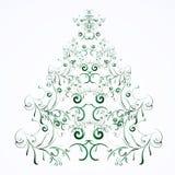 Arbre floral de Noël ou d'an neuf Image libre de droits