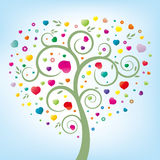 arbre floral et coeur Photo libre de droits