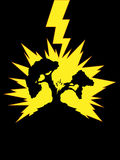 Arbre frappé par Lightning Image libre de droits