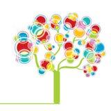 Arbre graphique coloré Photo libre de droits
