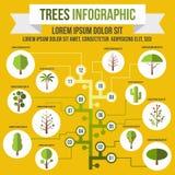 Arbre infographic, style plat Image libre de droits