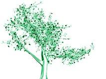 Arbre métallique vert Image stock