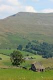 Arbre Mallerstang Cumbria de grange de champ d'animaux de ferme Photo stock