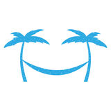 Arbre Palm Beach avec l'hamac Images stock