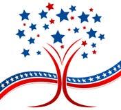 Arbre patriotique illustration de vecteur