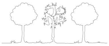 Arbre Person Figure Line Cartoon illustration stock