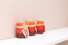 Arbre petites belles bougies Image libre de droits