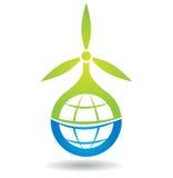 arbre renouvelable de feu vert de fleur d'énergie de concept d'ampoule Photos stock
