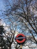 Arbre souterrain de Londres photographie stock libre de droits