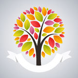 arbre stylisé d'automne Image stock