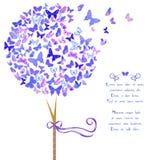 Arbre stylisé fait de papillons illustration de vecteur