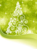 Arbre tramé de Noël sur un vert. ENV 8 Photo stock