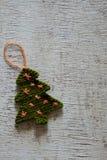 Arbre tricoté de Noël, arbres de Noël Images stock