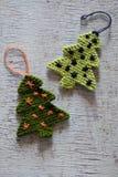 Arbre tricoté de Noël, arbres de Noël Image libre de droits