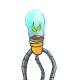 Arbre vert Art Concept Vector de lampe Photos libres de droits