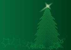 arbre vert de chrismas Photo stock
