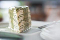 Arbre vert de gâteau Photo stock