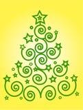 Arbre vert de Noël Images libres de droits