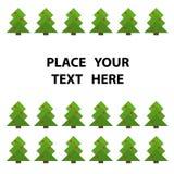arbre vert de Noël Photos libres de droits