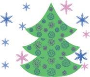 Arbre vert de nouvelle année illustration stock