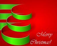 Arbre vert de vecteur de Noël de piste Photo stock