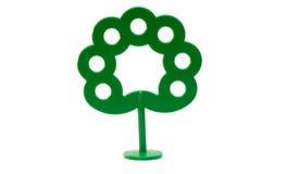 Arbre vert en plastique lumineux de jouet Images libres de droits