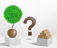 Arbre vert et arbre mort Image libre de droits
