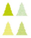 Arbres abstraits avec la triangle sur le dessus Images stock