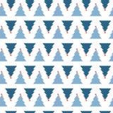 Arbres blancs d'hiver avec le profil sous convention astérisque sur l'obscurité à la mode Illustration Stock