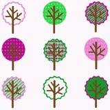 Arbres colorés Image stock