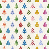 Arbres colorés de vacances sans couture. Photos libres de droits