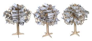 arbres croissants d'argent Images libres de droits