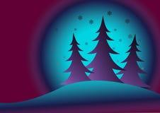 arbres de chutes de neige de fourrure dessous illustration libre de droits