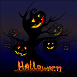 Arbres de Halloween illustration stock