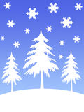 Arbres de neige illustration stock