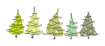 Arbres de Noël Images stock